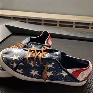 American themed Sperry Shoes